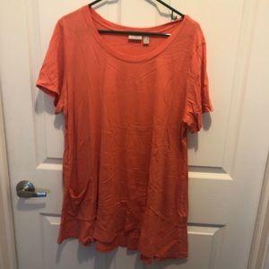 Long Orange LOGO Tunic